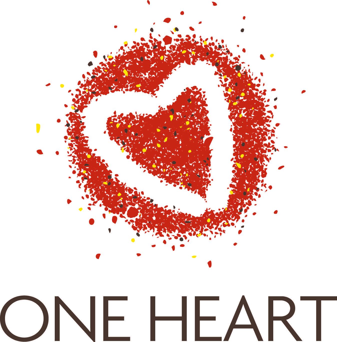One heart logo